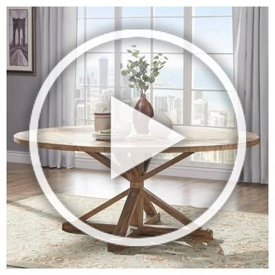 Sierra Round Farmhouse Pedestal Base Wood Dining Table 72 Vintage Pine Inspire Q In 2020 Wood Dining Table Dining Table Home Decor