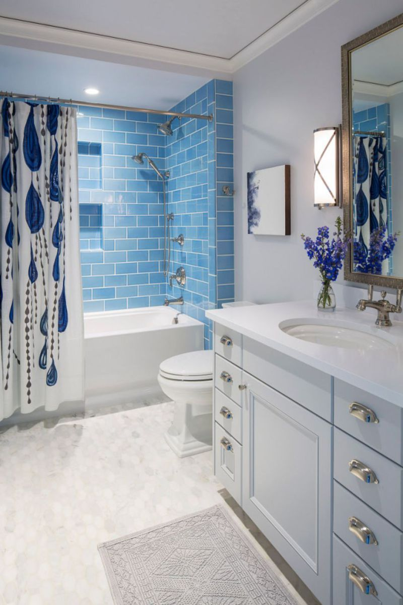 Modern small bathroom tile ideas 051 | Bathrooms | Pinterest | Small ...