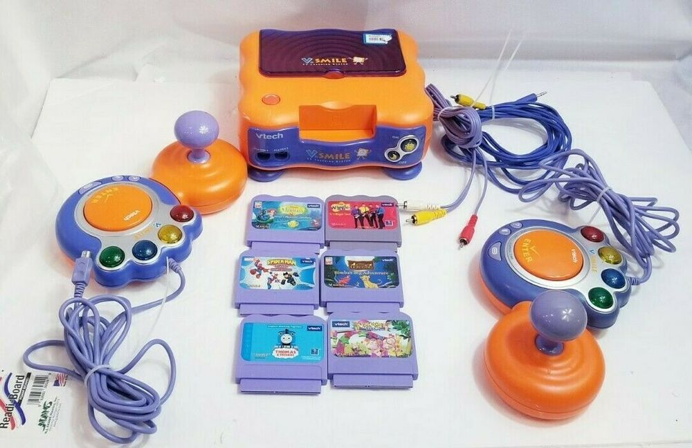 Vtech V Smile Tv Learning Video Game System Controllers Games