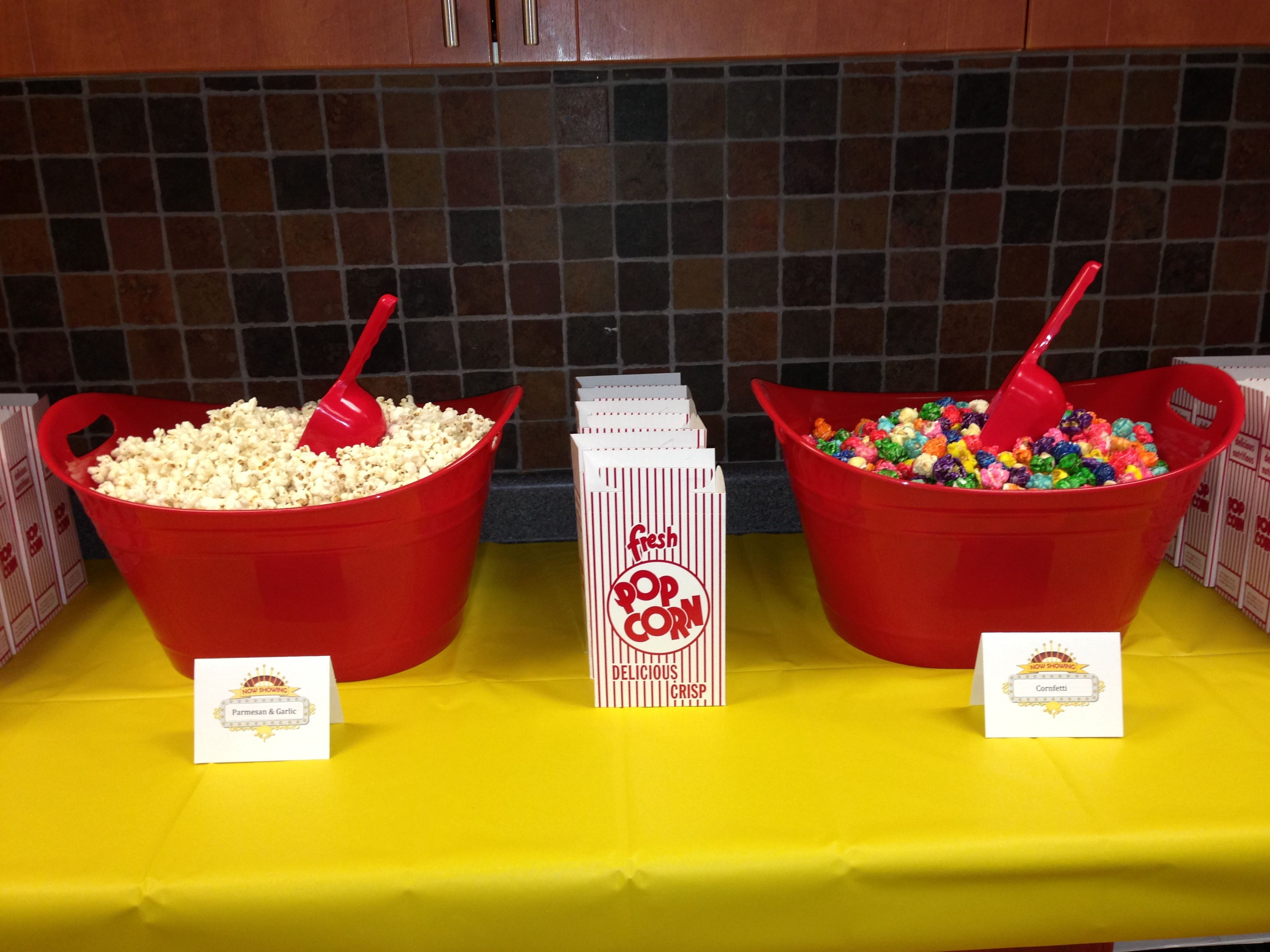 Created popcorn bar for teacher appreciation week.