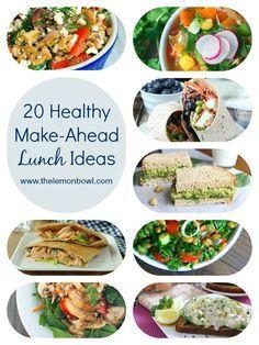 20 Healthy Make-Ahead Lunch Ideas - The Lemon Bowl