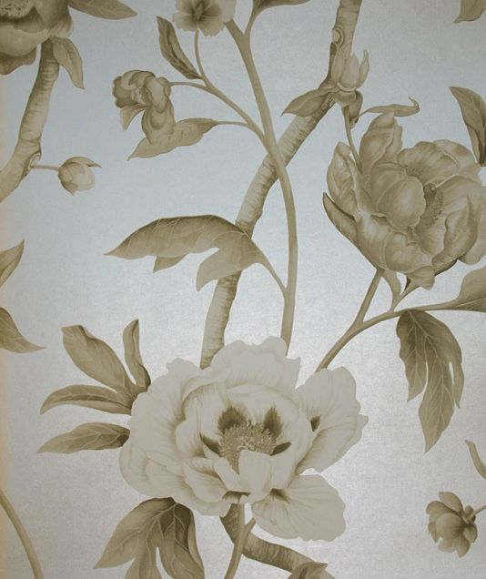 Flowering tree wallpaper beautifully drawn climbing floral wallpaper flowering tree wallpaper beautifully drawn climbing floral wallpaper with taupe and white flowers on a silver mightylinksfo