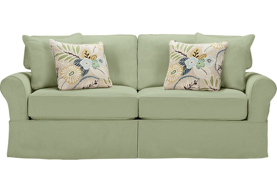 Cindy Crawford Home Beachside Green Sleeper 999 99 86 5w X 41d X 36h Find Affordable Sleeper Sofas For Green Sofa Rooms To Go Furniture Cindy Crawford Home