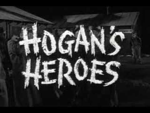 Hogan's Heroes.  I haven't seen this in awhile, but I thought it was a great show.  My favorite in the show was Col. Wilhelm Klink.  Link is to YouTube clip of show intro.