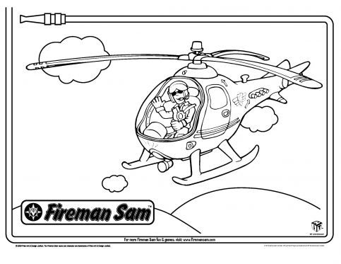 tom and his helicopter fireman sam coloring pages pbs kids