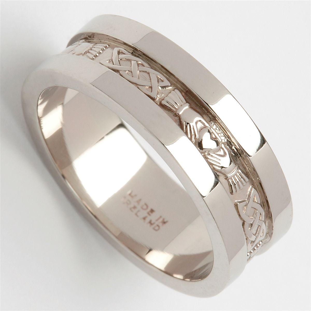 Platinum Men S Claddagh Wedding Ring 6mm Claddagh Ring Wedding Mens Wedding Rings Rings For Men