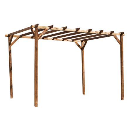 Pérgola madera pino    wwwbricores bricor jardin muebles-de