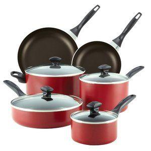 Farberware Dishwasher Safe Nonstick 14 Piece Cookware Set Cookware Set Pots And Pans Sets Cookware Sets