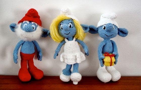 Amigurumi Crochet Personajes : Patrón gratis en castellano pitufos amigurumi personajes