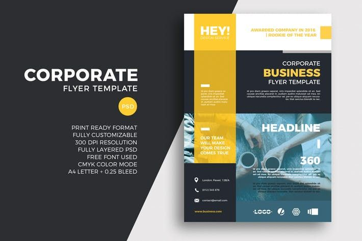 corporate flyer template by sztufi on envato elements