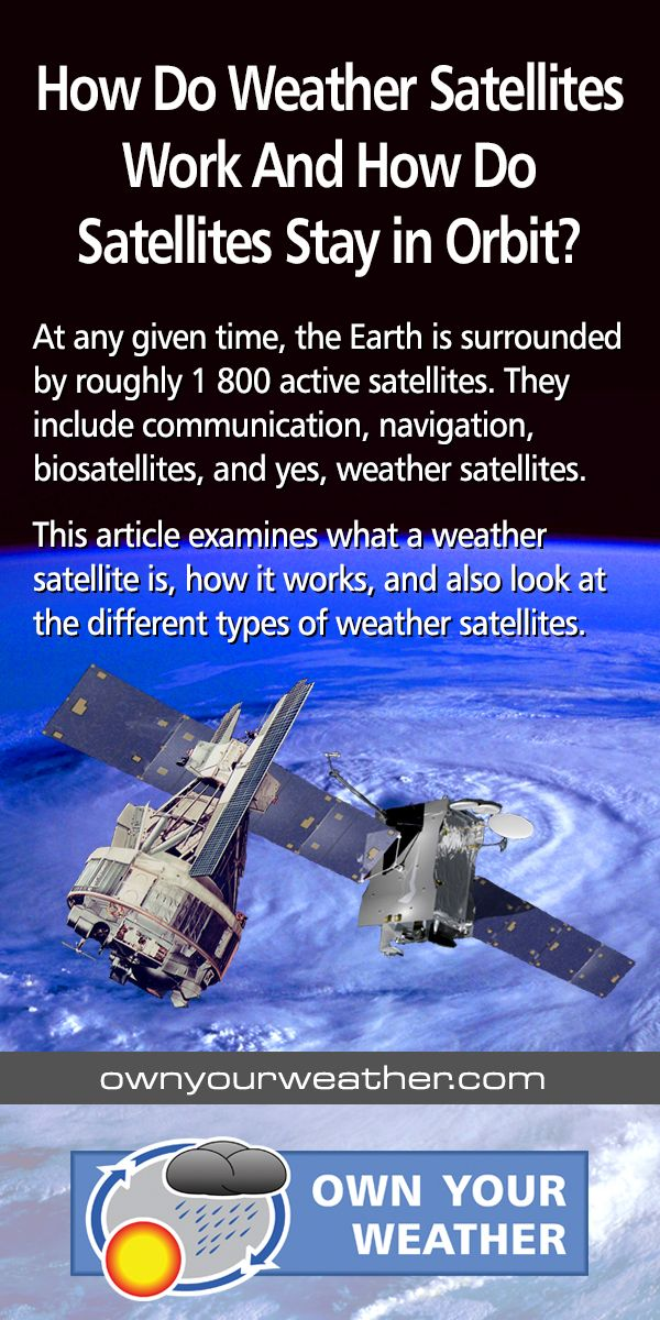 How Do Weather Satellites Work And How Do Satellites Stay