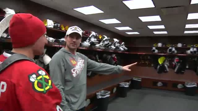 Sharp\'s private locker room tour Video - NHL VideoCenter - Chicago ...
