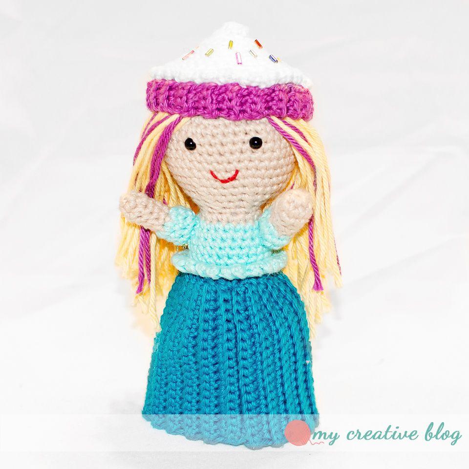 Cupcake Doll Crochet Pattern Kids Croch Muecas