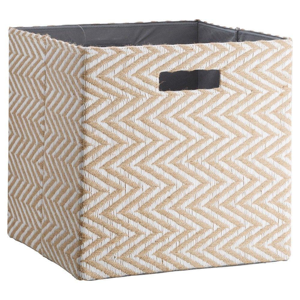 Fabric Cube Storage Bin Teal Pattern 13 Threshold Cube