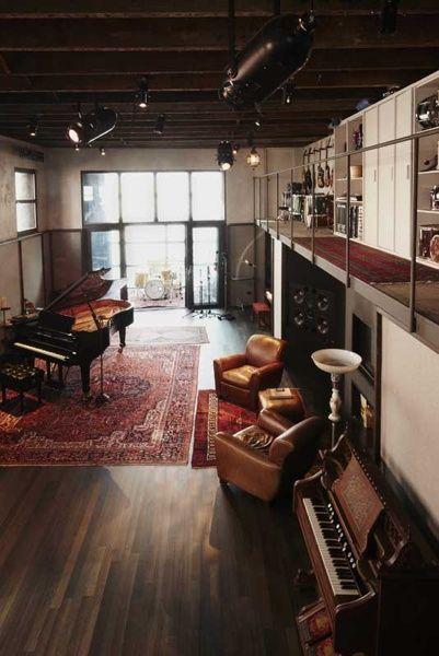 Music Studio Room Design: ホームインテリア, インテリア, インテリア 建築