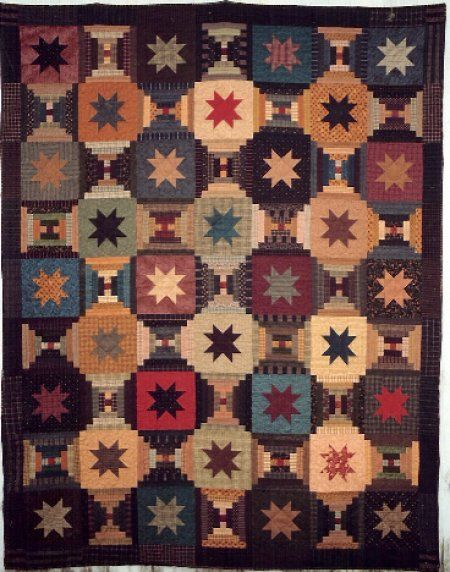 Stars and Courthouse steps...love it! From Country Threads ... : courthouse quilt pattern - Adamdwight.com