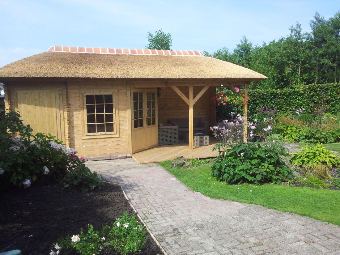 tuinhuis rieten dak veranda - Google zoeken   Tuin   Pinterest ...