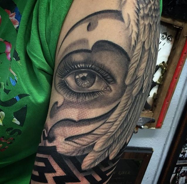Image result for eye and feather tattoo