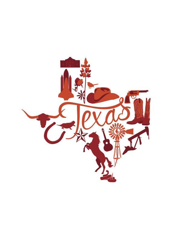 State Vector Series Texas by TheNomadCreative | I Love Texas | Pinterest
