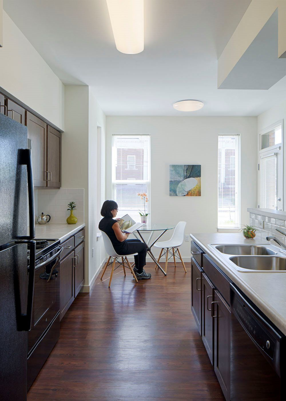 Our kitchens include a dishwasher, garbage disposal, refrigerator ...