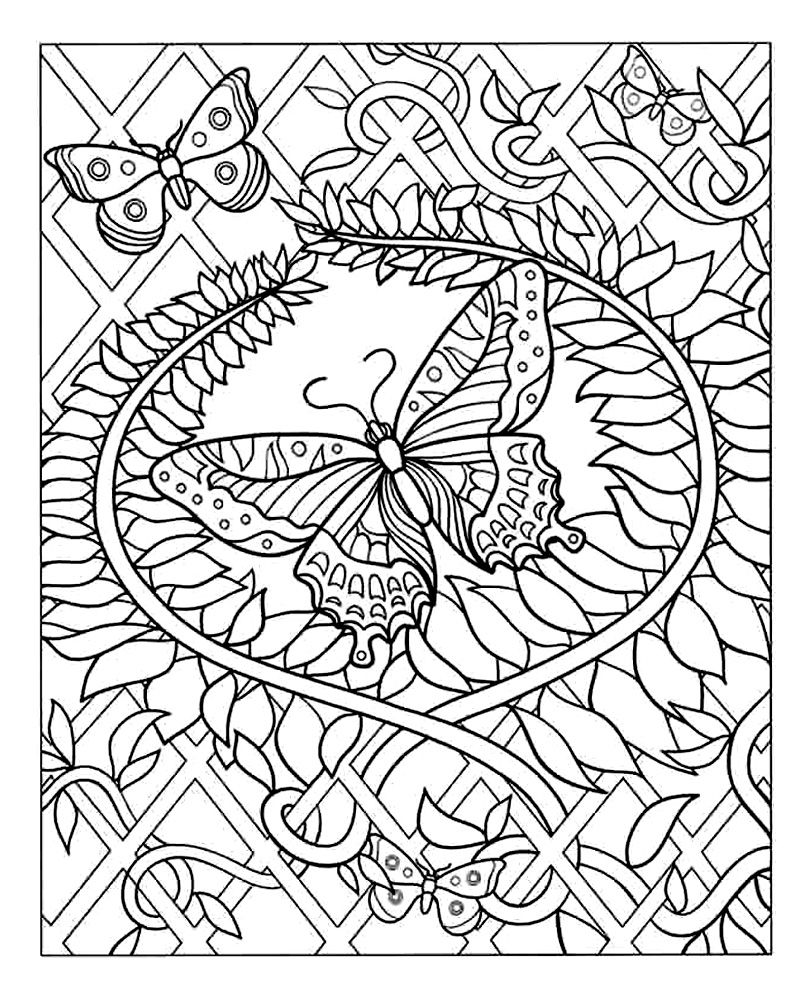 Difficult butterfly coloring pages - To Print Coloring Difficult Butterfly Click On The Printer Icon At