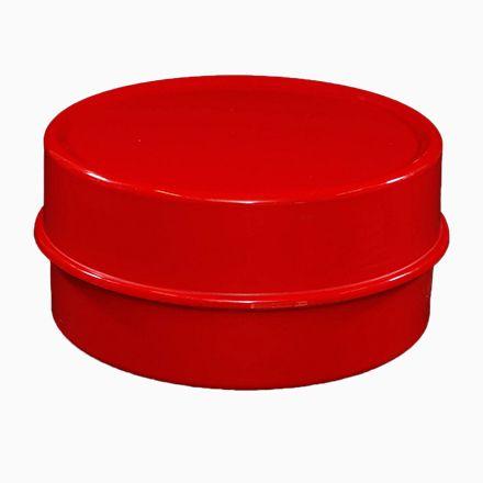 Roter Vintage Ilumesa Couchtisch von Verner Panton für Verpan Jetzt