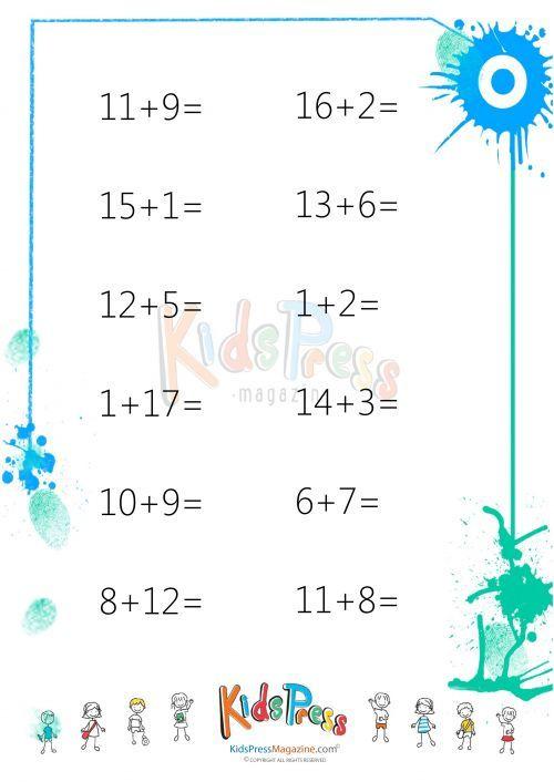 Easy Addition Worksheet 1 Addition Worksheets Worksheets And
