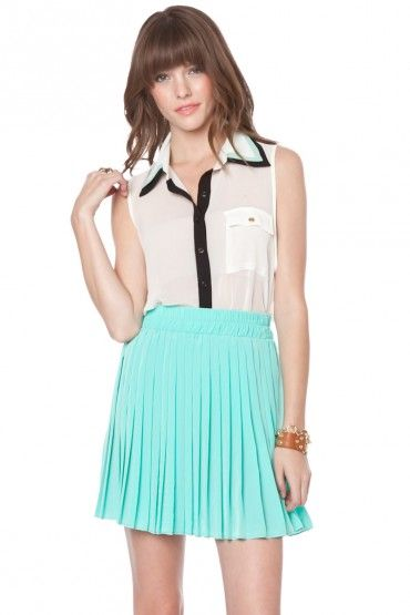 Galloway chiffon top in ivory