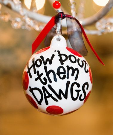Another great find on #zulily! Georgia Bulldogs Ball Ornament #zulilyfinds - Another Great Find On #zulily! Georgia Bulldogs Ball Ornament