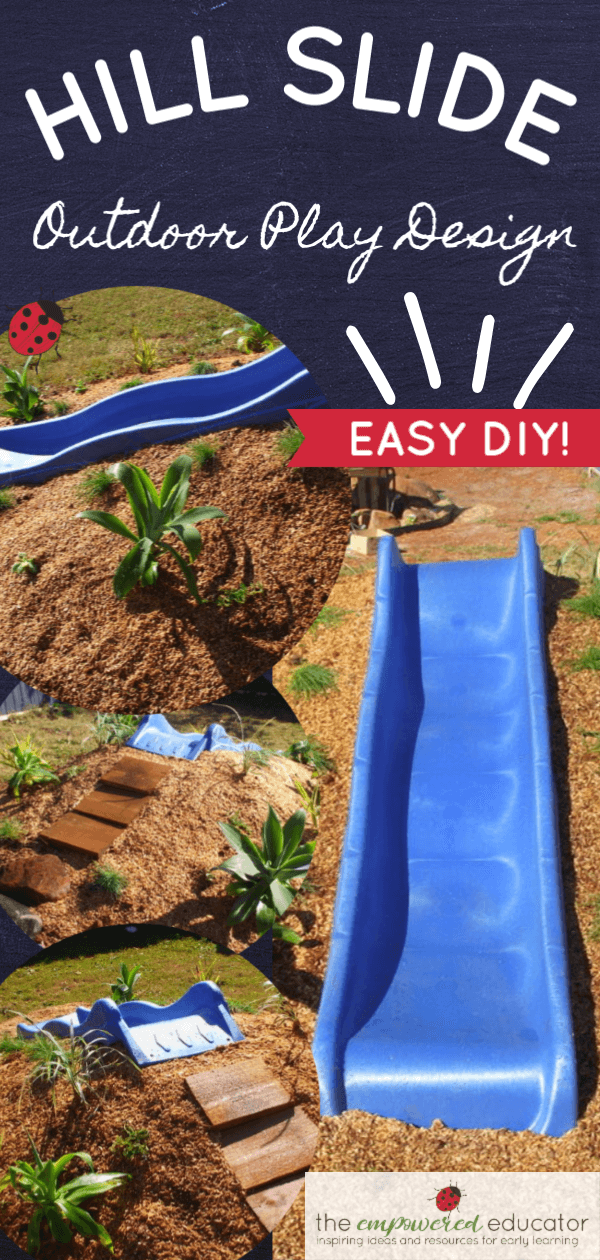 How to build a hill slide for children's outdoor play area! images