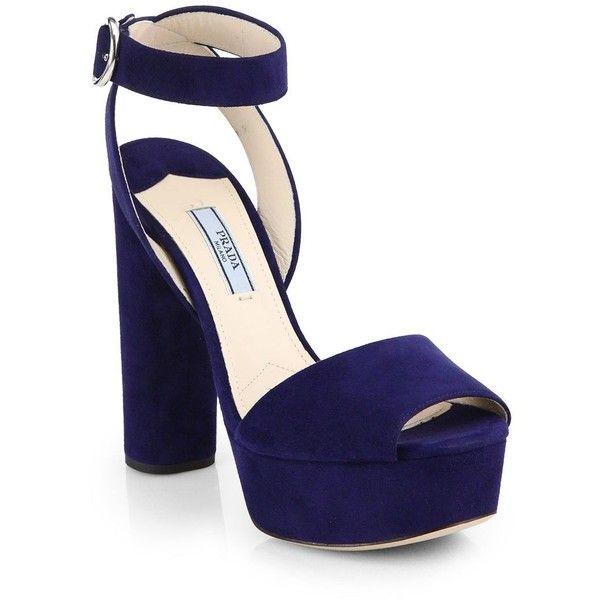 25e9512064a1 Prada Suede Platform Sandals featuring polyvore