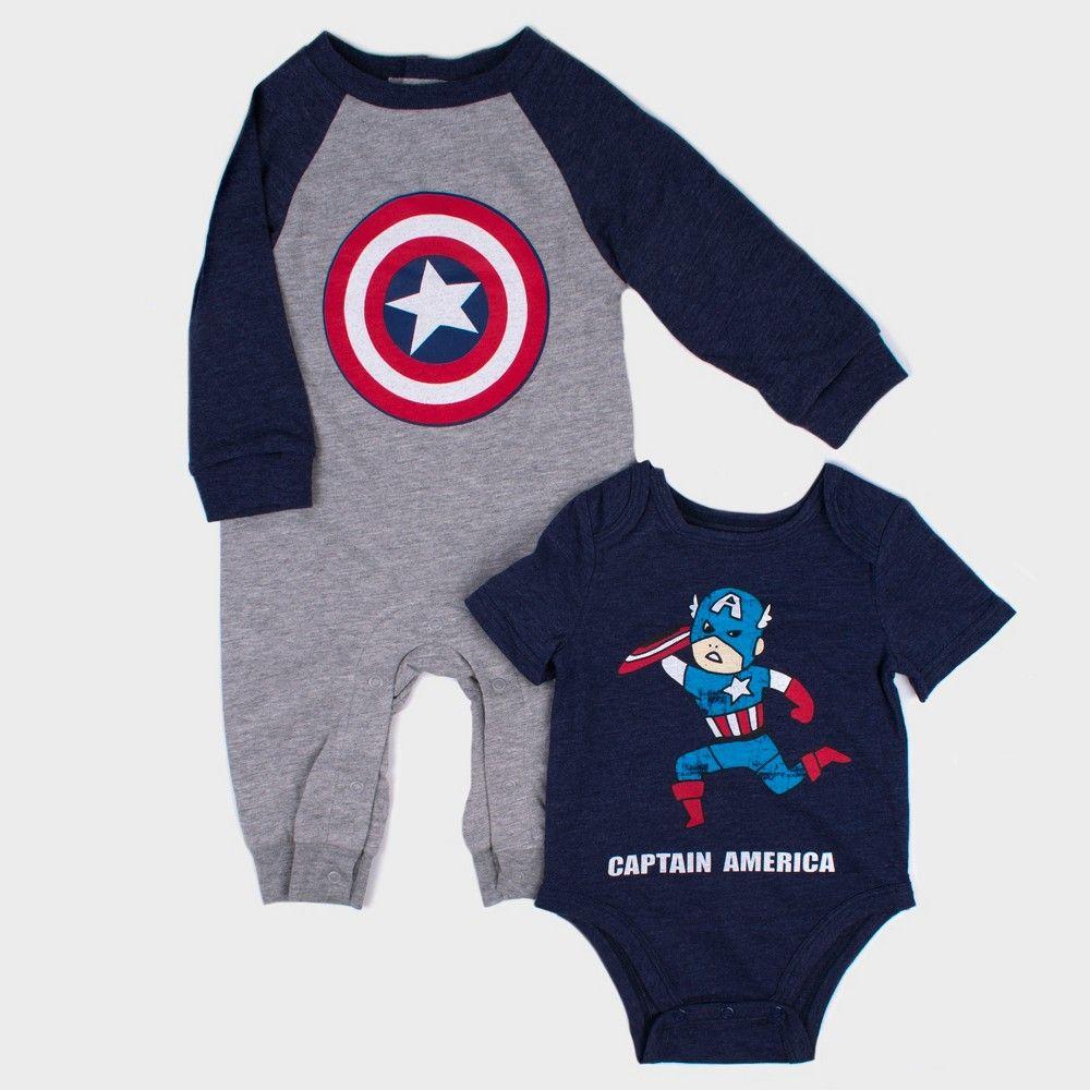 BABY LONG SLEEVE CARTOON SUPERHERO ROMPER NEWBORN BOY BODYSUIT BABYGROWS OUTFIT