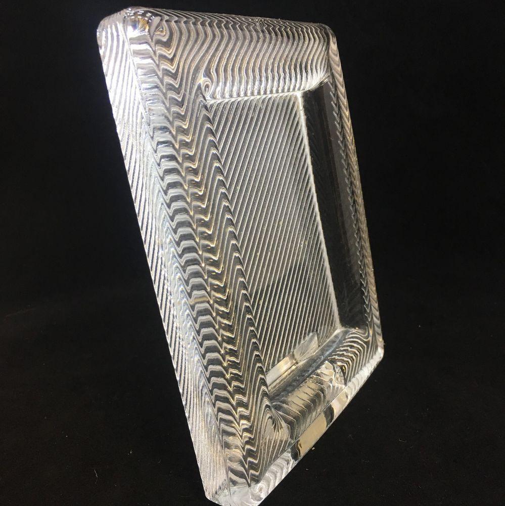 Mikasa Crystal Glass Frame 2-3/4 x 4 Picture Diagonal Pattern ...