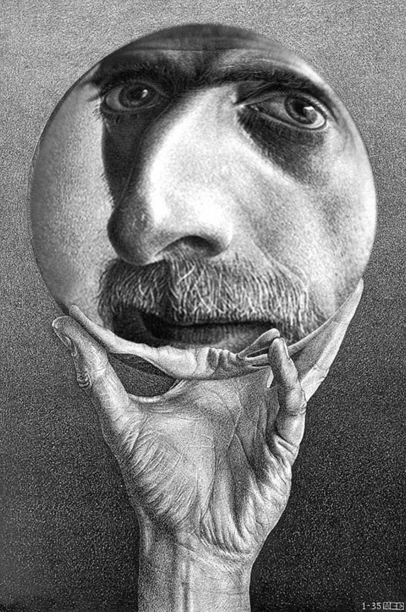 Portrait . Escher Art Portrait