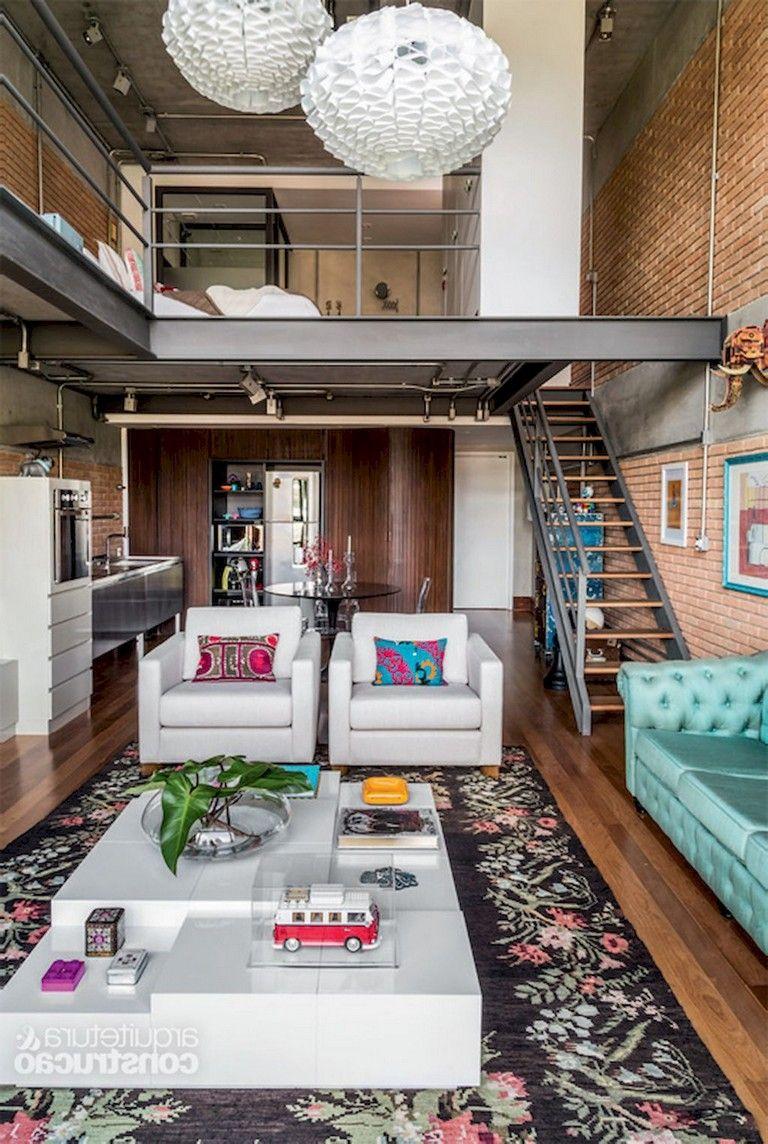 53 Awesome Efficient Tiny Loft Apartment Decorating Ideas Loft
