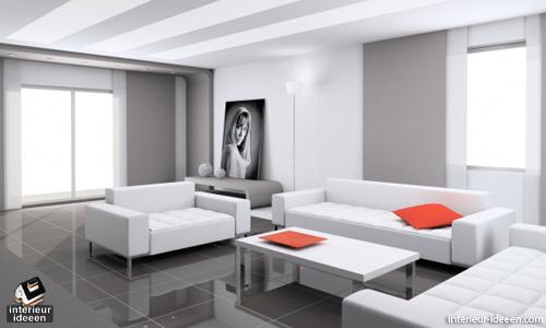 Witte Interieur Ideeen : Witte woonkamer eten minimalist and wallpaper