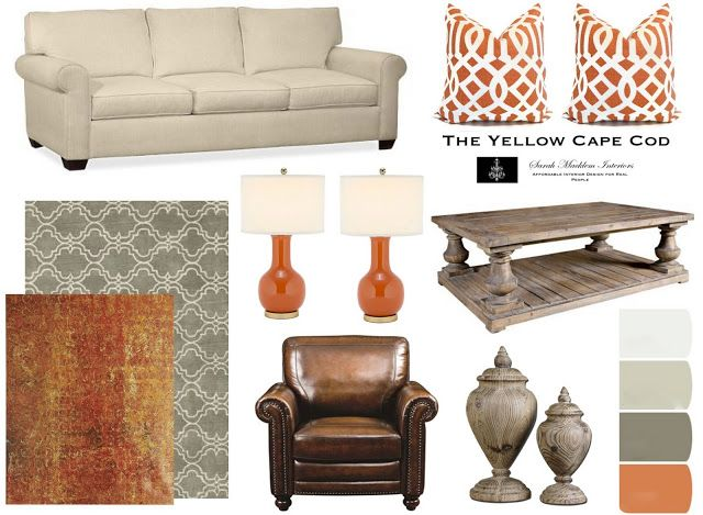 A Contemporary Space With Rustic TouchesGray and Orange