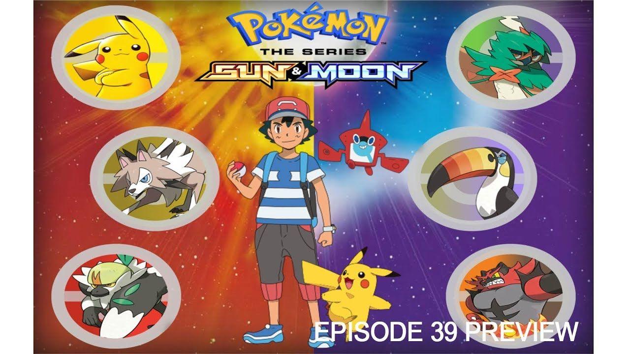 pokemon sun and moon episode 39 preview english subbed. | pokemon