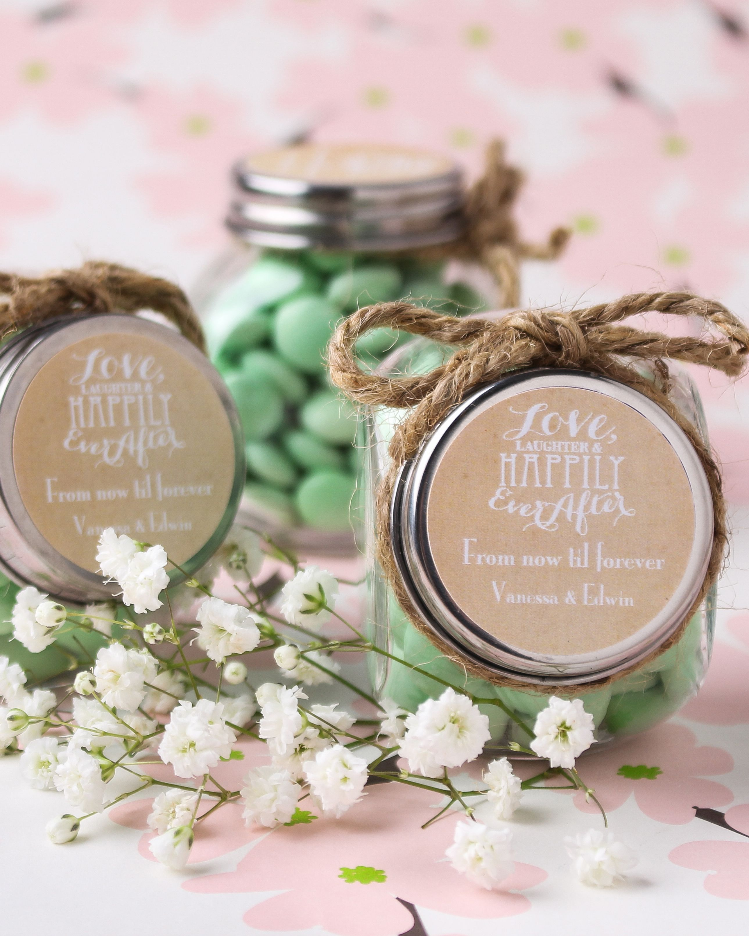 Personalized Wedding Themed Candy Jars Created By Ads Bulk Editor