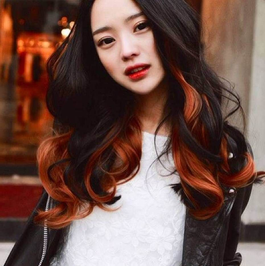 Hair Color For Asian Hair Color Asian Asian Hair Two Toned Hair