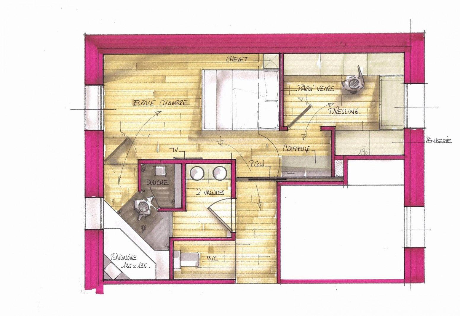 Plan De Suite Parentale Avec Salle De Bain Chambre Parentale