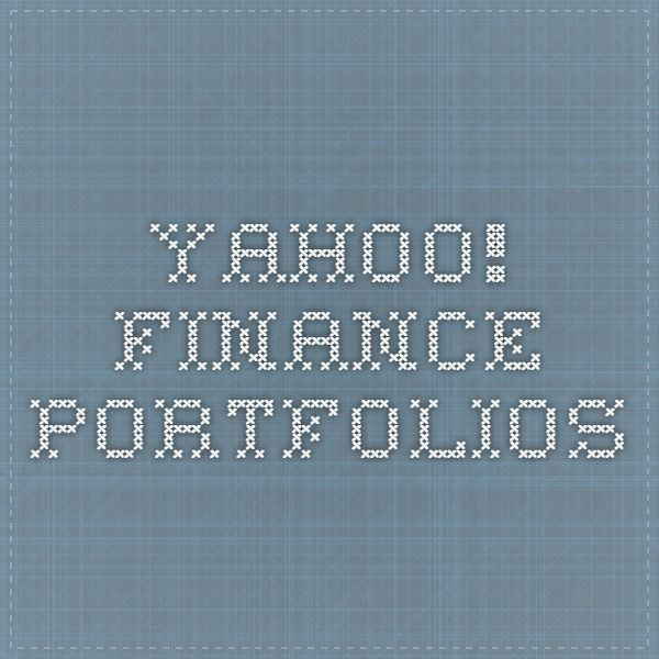 Yahoo Stock Quotes Yahoo Finance Portfolios  Investing  Pinterest  Free Stock .