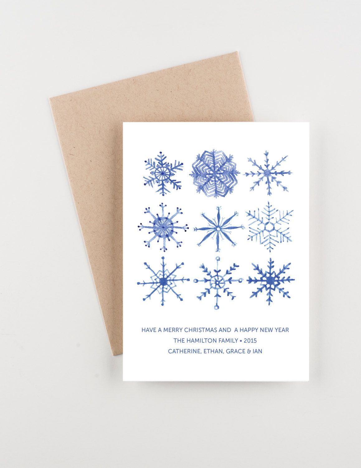 Watercolor Snowflakes, Holiday 2015 Christmas and New Years ...
