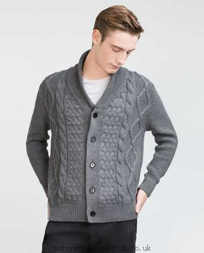 CABLE KNIT CARDIGAN , Sweaters and cardigans , MAN