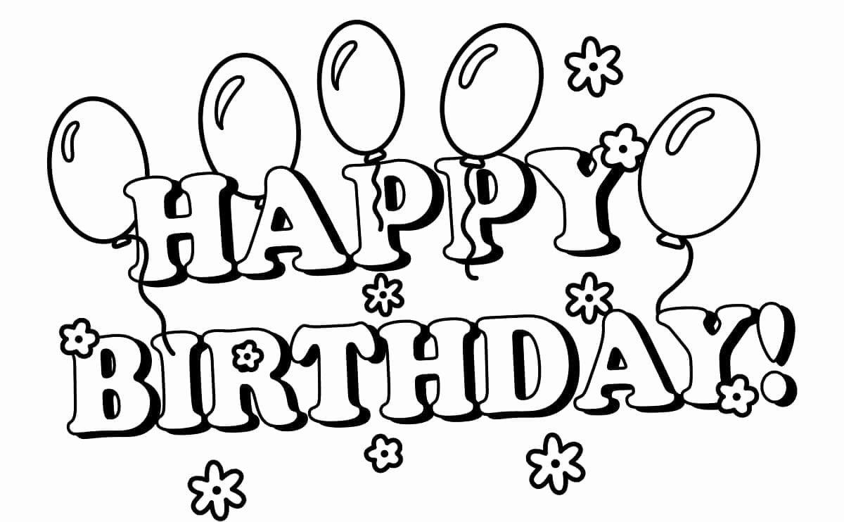 happy birthday coloring page unique 25