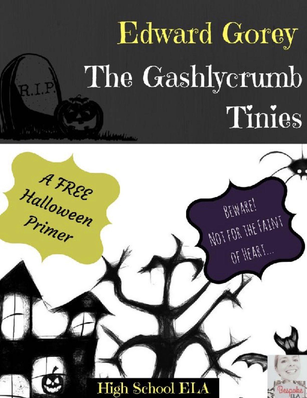 Edward Gorey S Gashlycrumb Tinies A Free Halloween Primer On