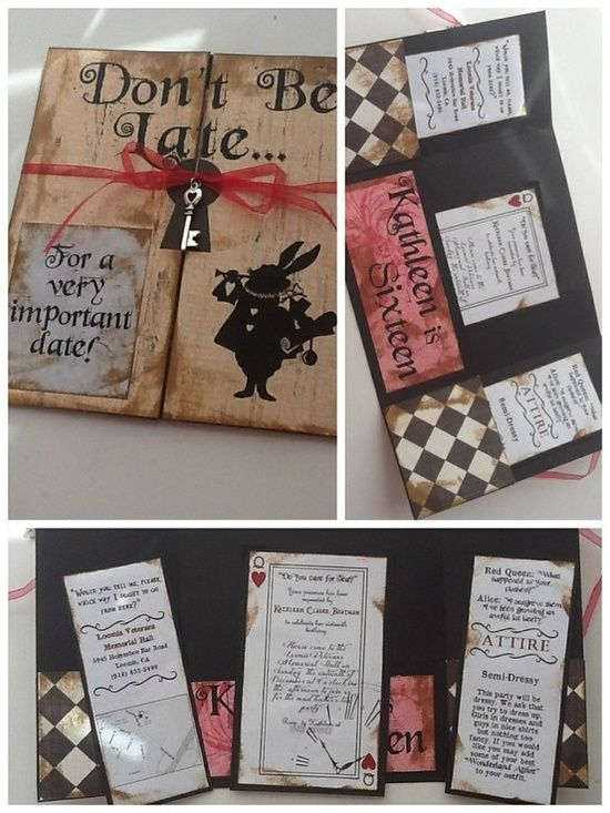 Diy Alice In Wonderland Party Invitations Party Ideas