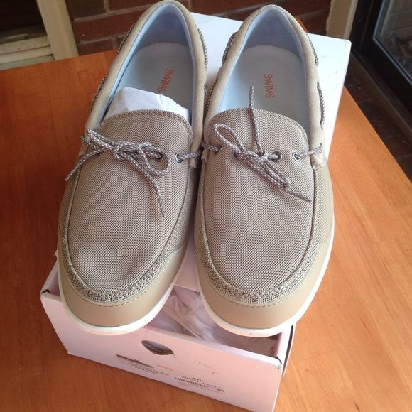 Men's swims George lace summer shoe Brand new men's swims loafer. Beige/orange color. Swims Shoes