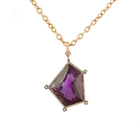 Rose gold and Amethyst necklace