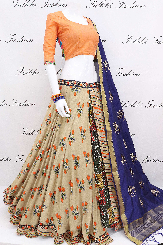 c1c757f244d699 Fabulous Flap Hand Work Gaji Silk Chaniya Choli With Designer Blouse ...